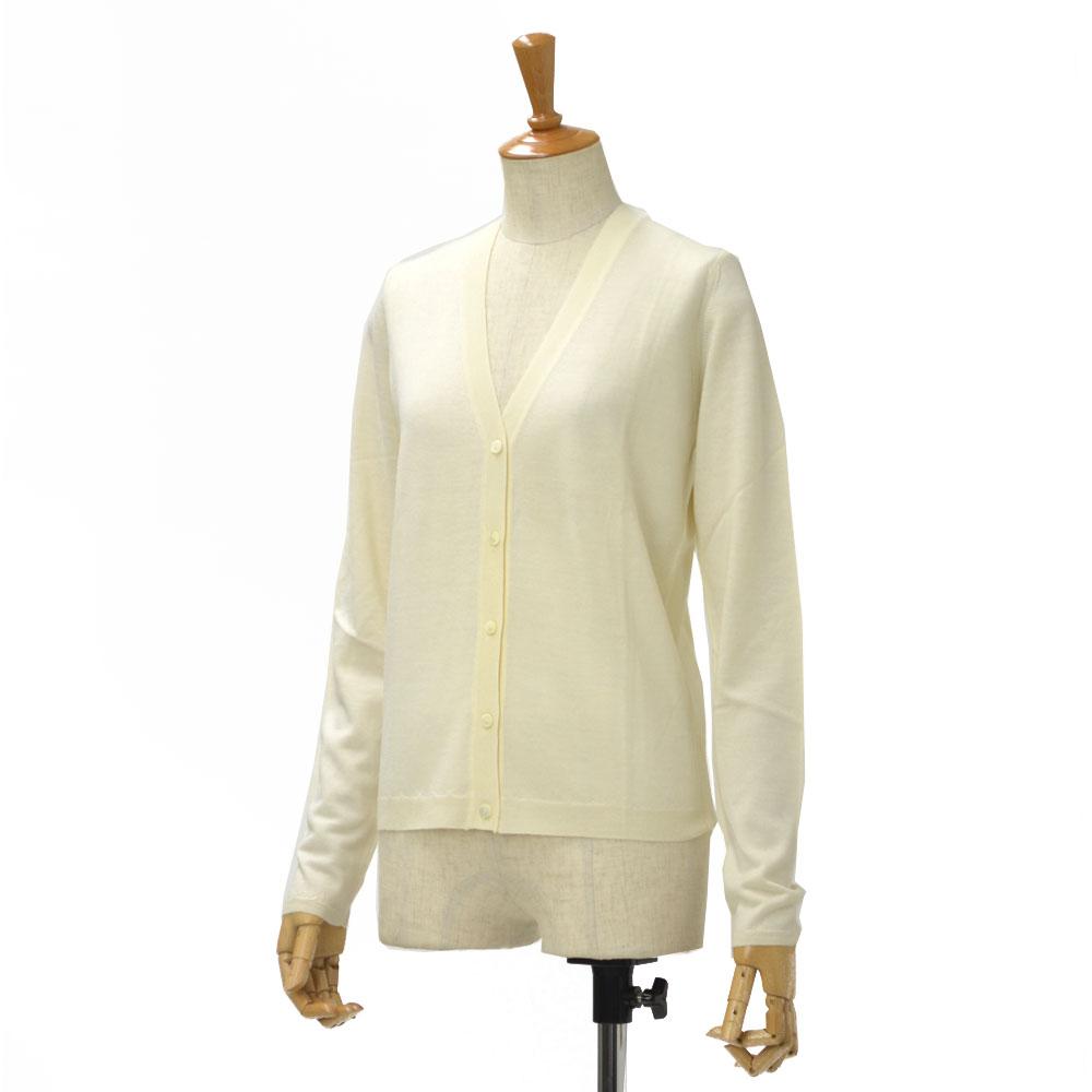 Cruciani【クルチアーニ】Vネックカーディガン CD10601 wool silk WHITE(ホワイト)