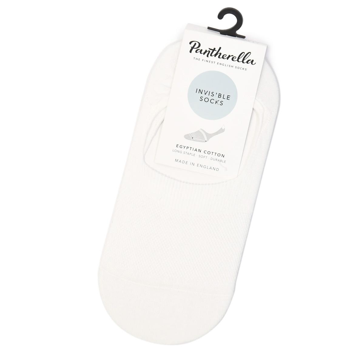 Pantherella【パンセレラ】ソックス靴下 W3000F 005  コットン ナイロン ホワイト