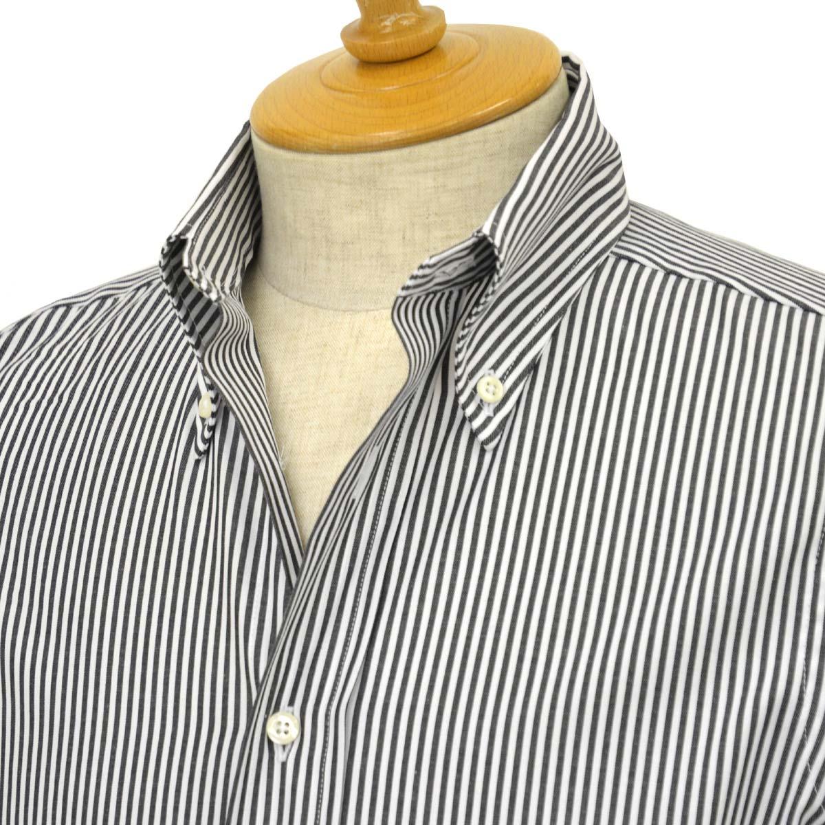 INDIVIDUALIZED SHIRTS【インディビジュアライズドシャツ】ボタンダウンシャツ slim fit OX stripe (スリムフィット オックスストライプ)コットン ブラック