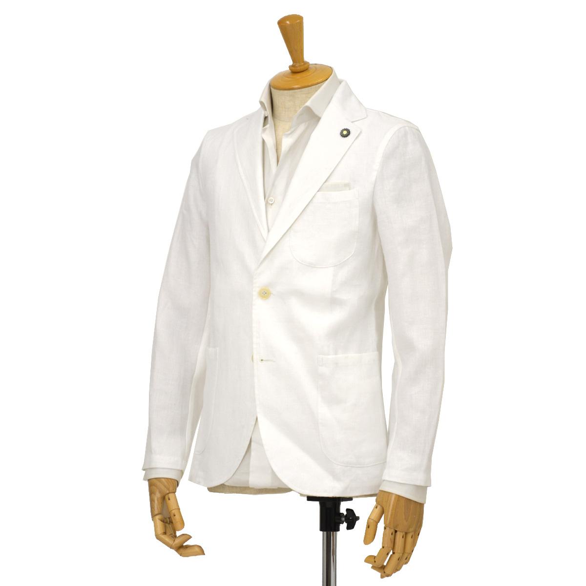 Giannetto【ジャンネット】シングルジャケット 8G844JK 001 リネン  ホワイト
