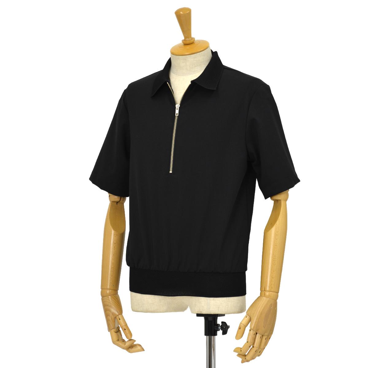 BARENA VENEZIA【バレナ ヴェネチア】プルオーバーシャツ TSU18290315 T-shirt Argo Tropico Nero ウール ブラック