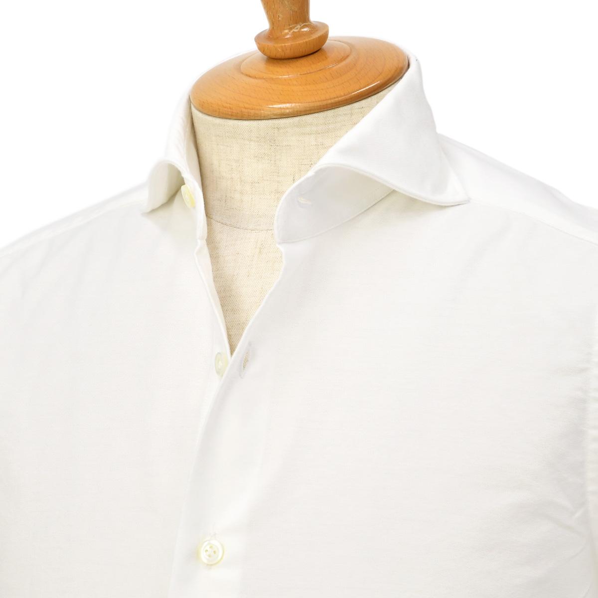 【30%OFF】【size36,37,43】Giannetto【ジャンネット】オックスフォードシャツ SLIMFIT WE14600L84 001 コットン ホワイト