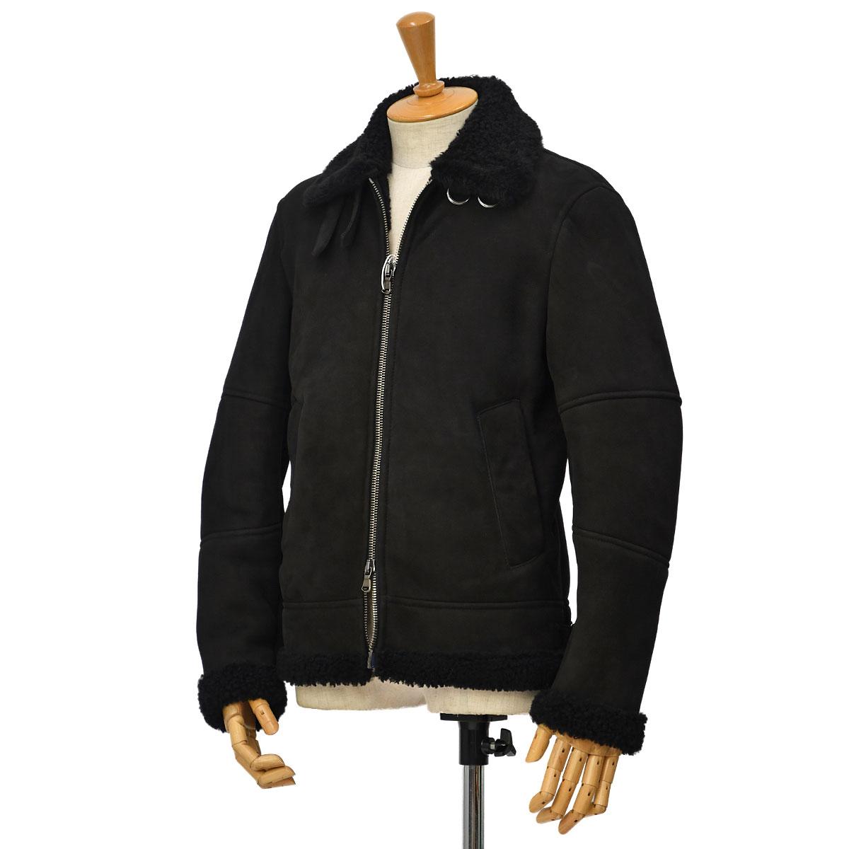 AVIGNON【アヴィニョン】B-3 ボンバージャケット MEGEVE BLACK ムートン ブラック